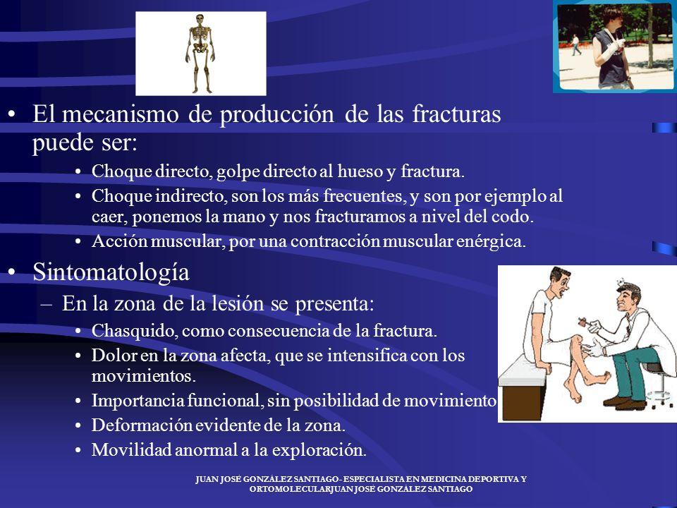 El mecanismo de producción de las fracturas puede ser: