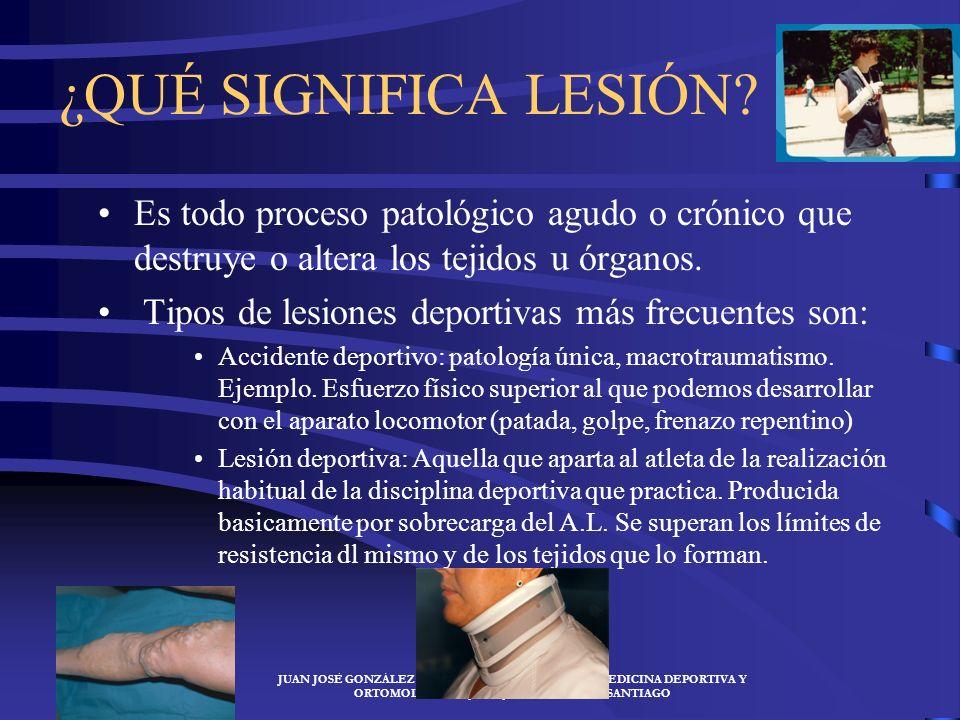 ¿QUÉ SIGNIFICA LESIÓN Es todo proceso patológico agudo o crónico que destruye o altera los tejidos u órganos.