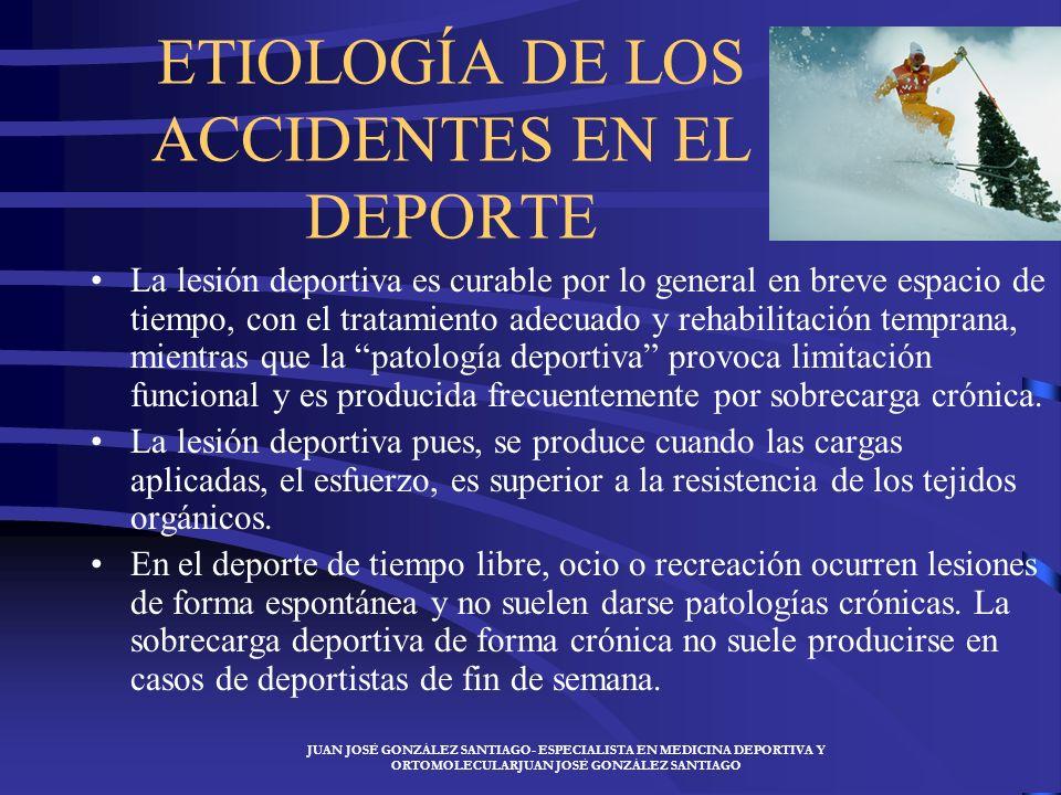 ETIOLOGÍA DE LOS ACCIDENTES EN EL DEPORTE
