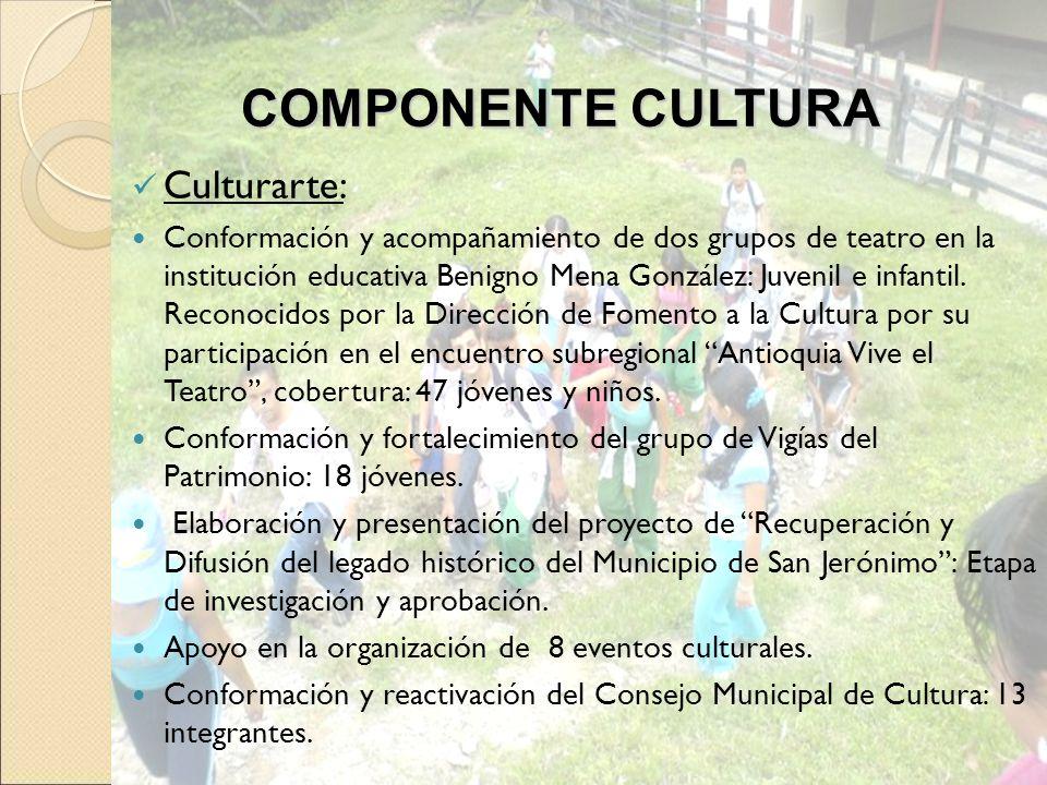 COMPONENTE CULTURA Culturarte: