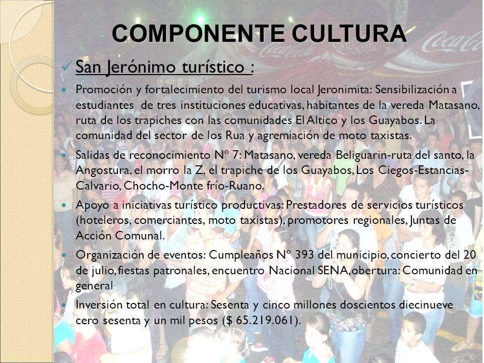 COMPONENTE CULTURA San Jerónimo turístico :