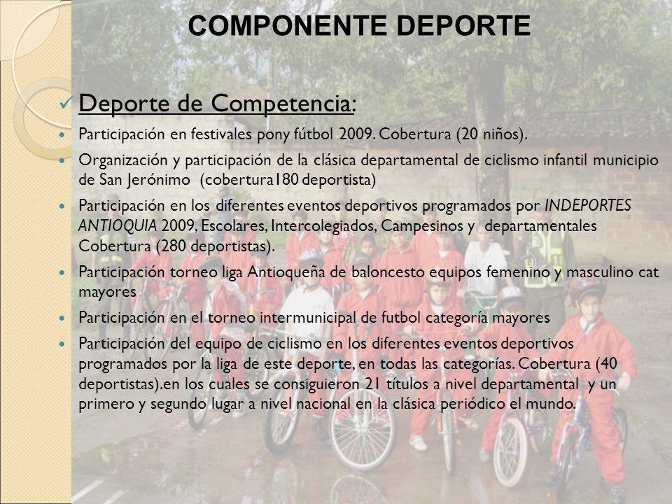 COMPONENTE DEPORTE Deporte de Competencia: