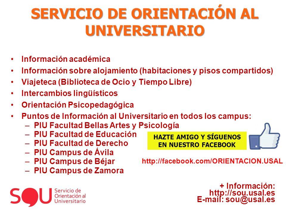 SERVICIO DE ORIENTACIÓN AL UNIVERSITARIO