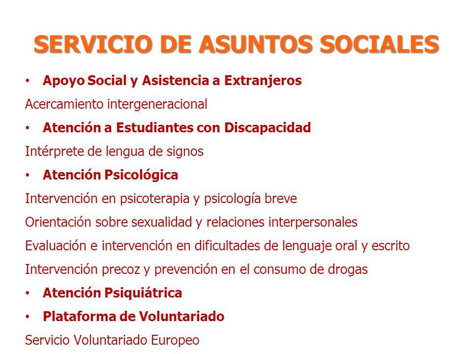 SERVICIO DE ASUNTOS SOCIALES
