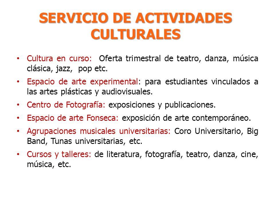SERVICIO DE ACTIVIDADES CULTURALES