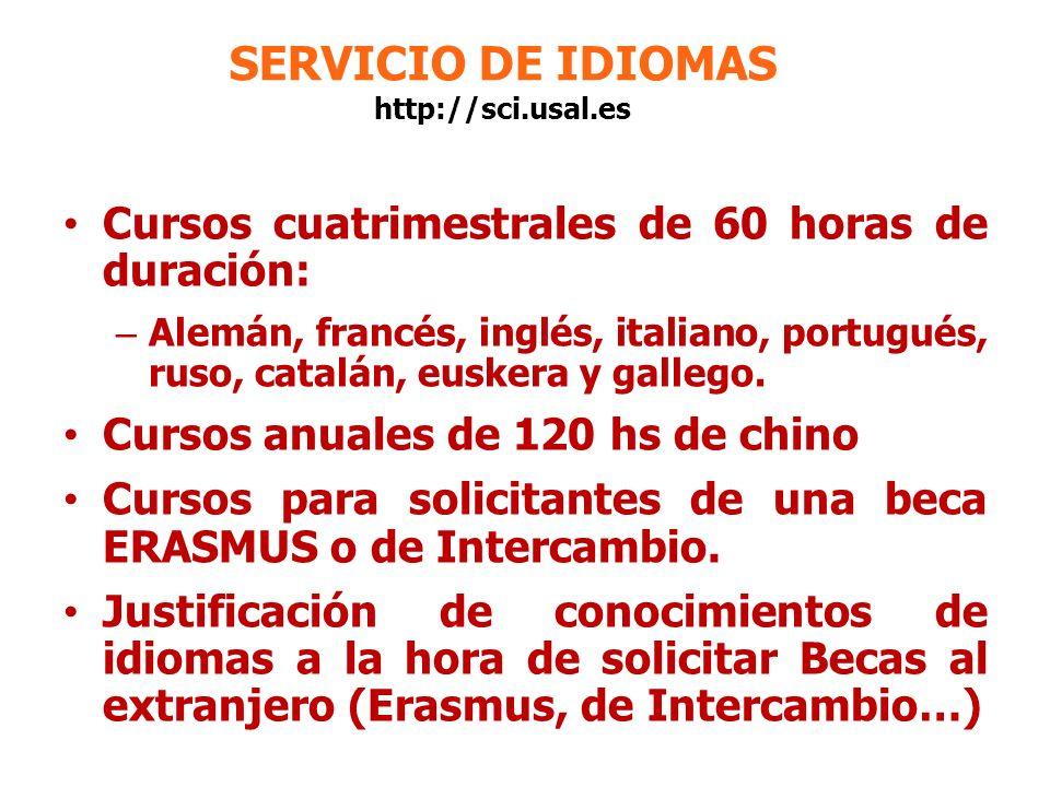 SERVICIO DE IDIOMAS http://sci.usal.es