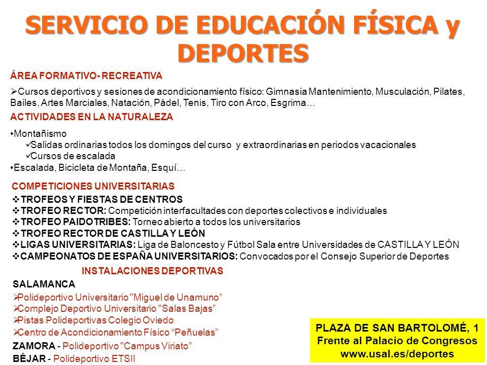 SERVICIO DE EDUCACIÓN FÍSICA y DEPORTES