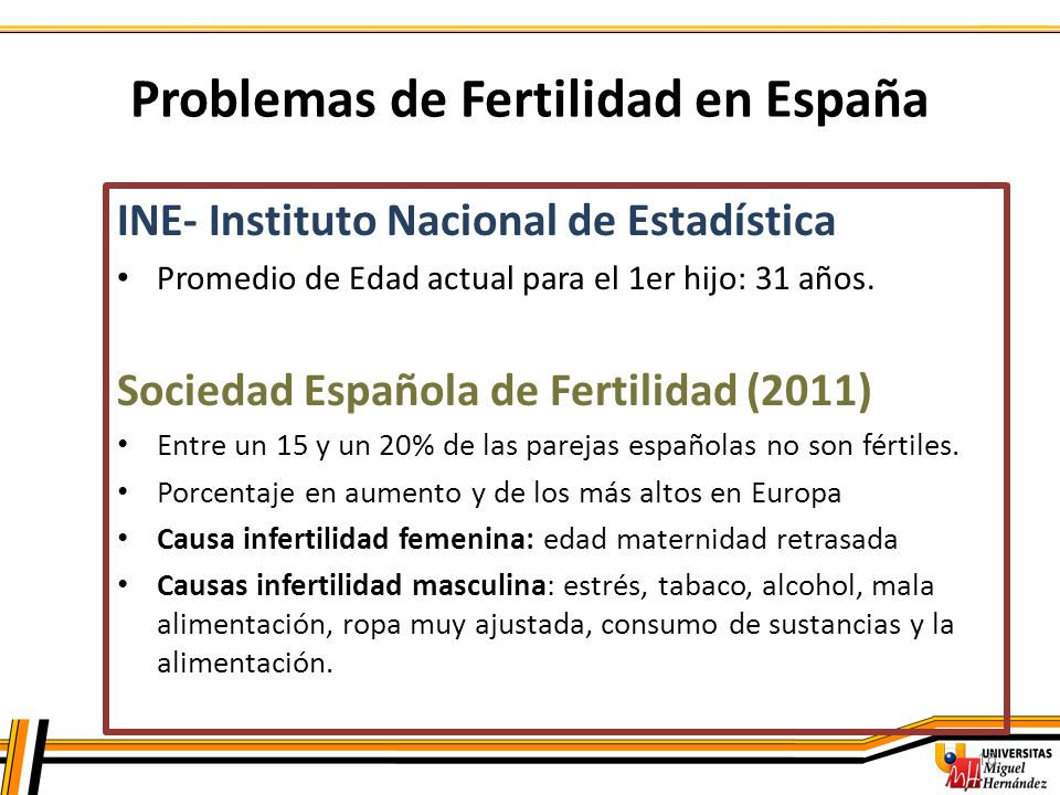 Problemas de Fertilidad en España