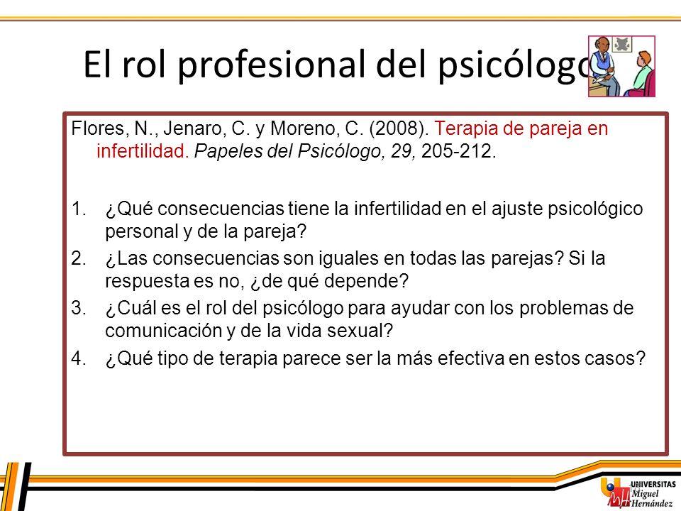 El rol profesional del psicólogo