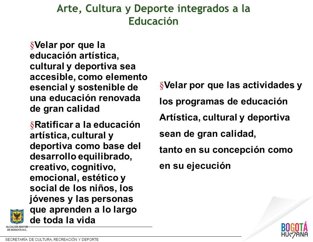 Arte, Cultura y Deporte integrados a la Educación