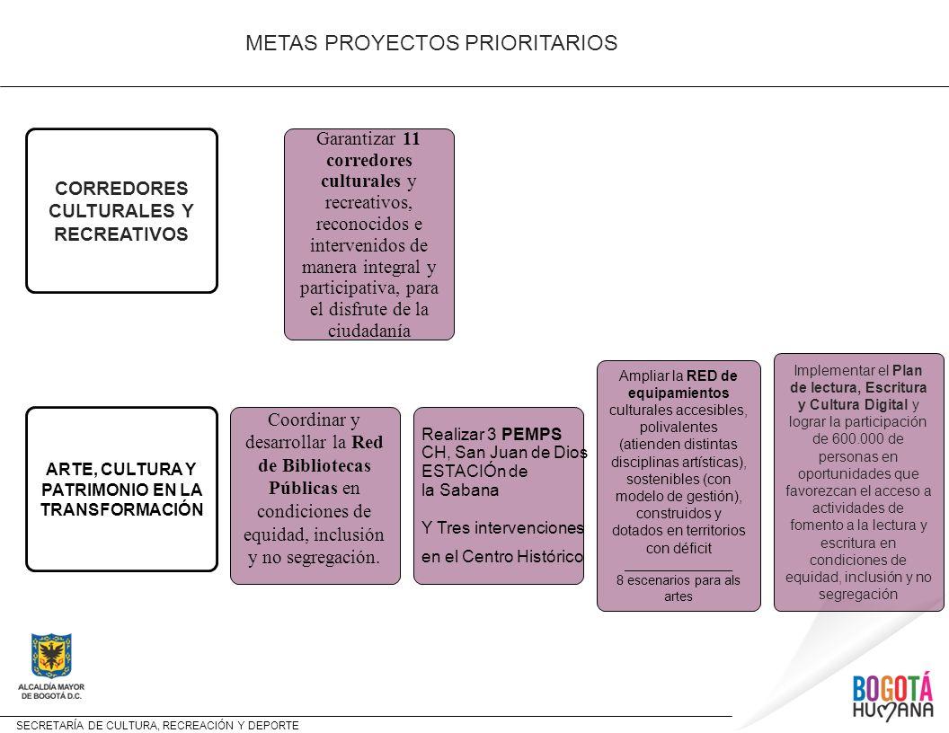 METAS PROYECTOS PRIORITARIOS