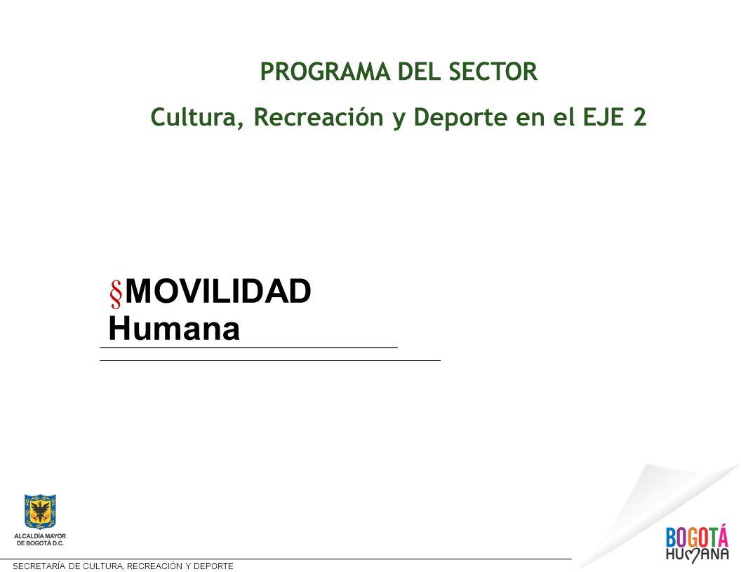 Cultura, Recreación y Deporte en el EJE 2