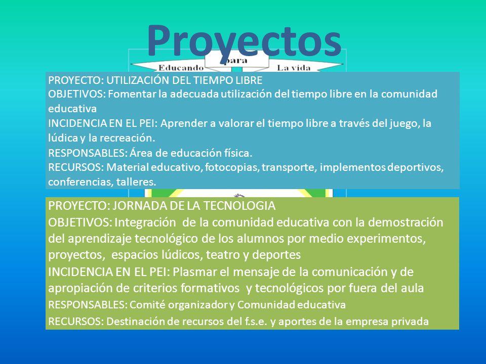Proyectos PROYECTO: JORNADA DE LA TECNOLOGIA