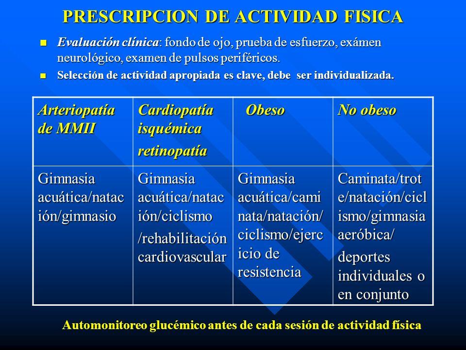 PRESCRIPCION DE ACTIVIDAD FISICA
