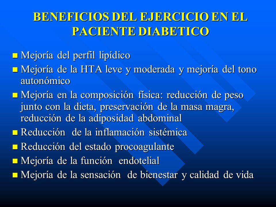 BENEFICIOS DEL EJERCICIO EN EL PACIENTE DIABETICO