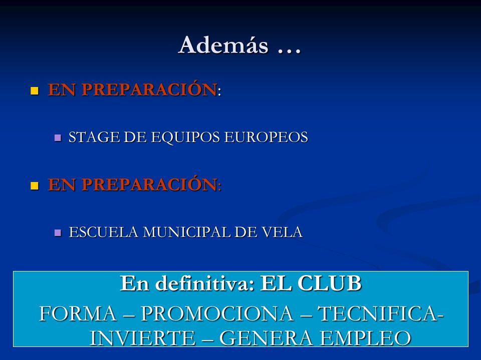 FORMA – PROMOCIONA – TECNIFICA- INVIERTE – GENERA EMPLEO