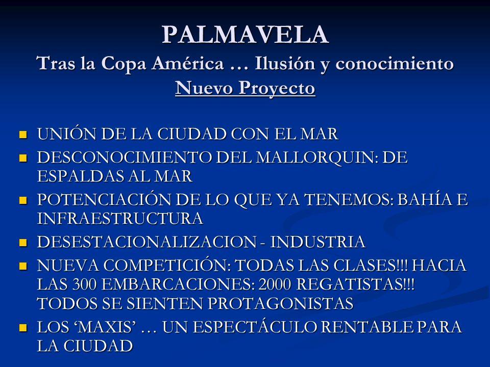 PALMAVELA Tras la Copa América … Ilusión y conocimiento Nuevo Proyecto