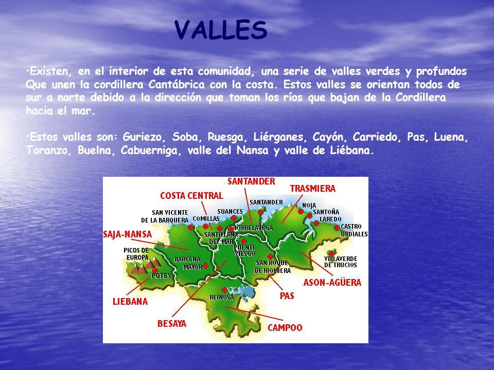 VALLES Existen, en el interior de esta comunidad, una serie de valles verdes y profundos.