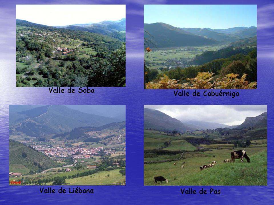 Valle de Soba Valle de Cabuérniga Valle de Liébana Valle de Pas