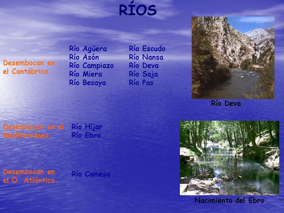 RÍOS Río Agüera Río Escudo Río Asón Río Nansa Río Campiazo Río Deva