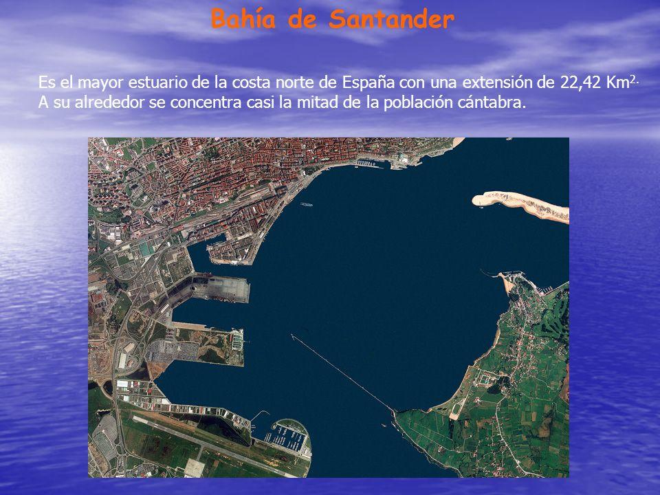 Bahía de Santander Es el mayor estuario de la costa norte de España con una extensión de 22,42 Km2.