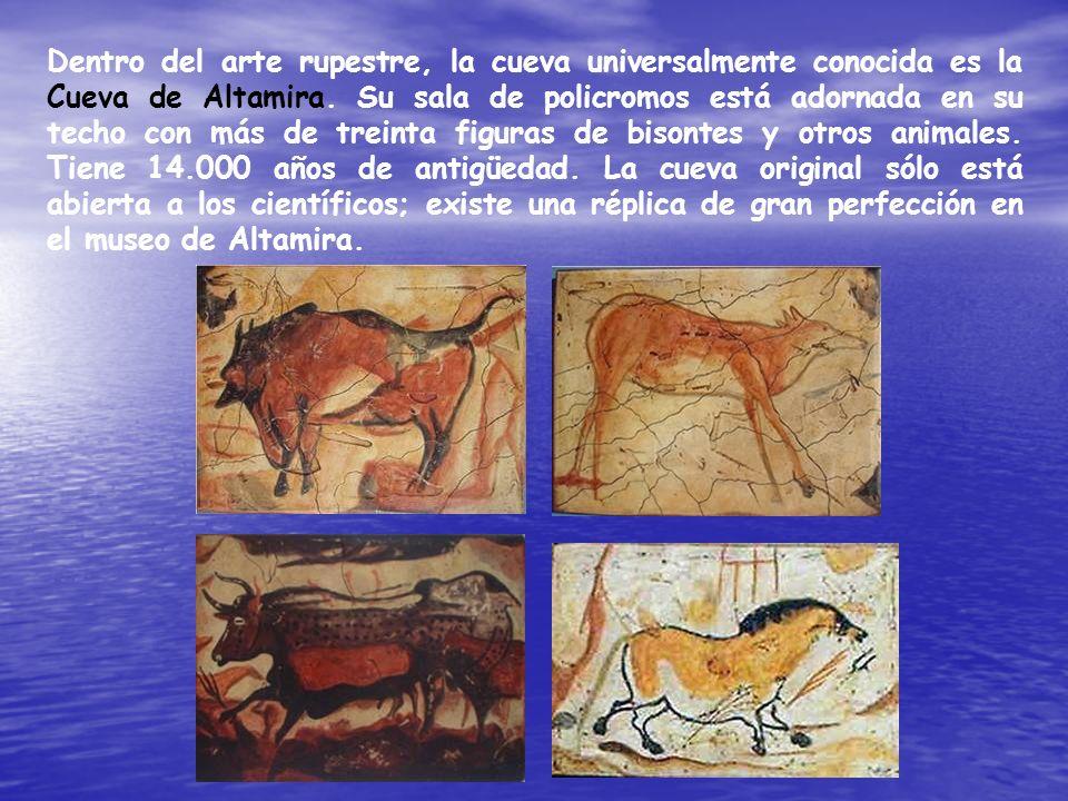 Dentro del arte rupestre, la cueva universalmente conocida es la Cueva de Altamira.