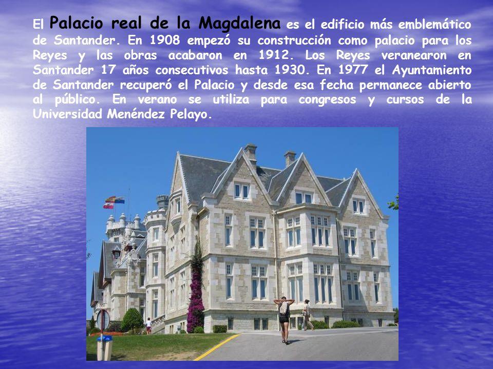 El Palacio real de la Magdalena es el edificio más emblemático de Santander.
