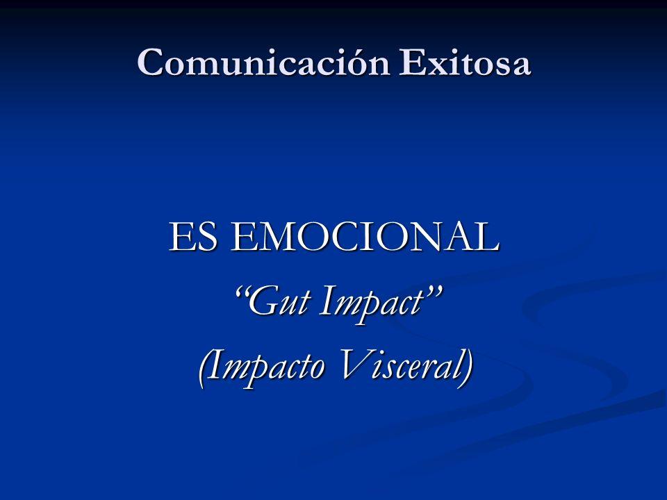 Comunicación Exitosa ES EMOCIONAL Gut Impact (Impacto Visceral)