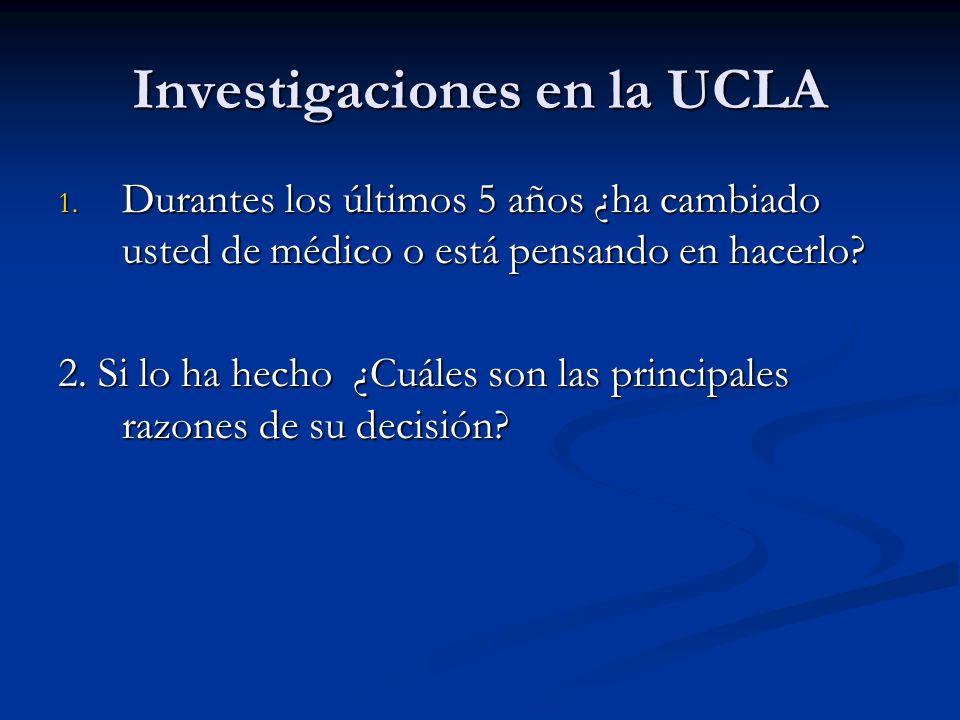 Investigaciones en la UCLA