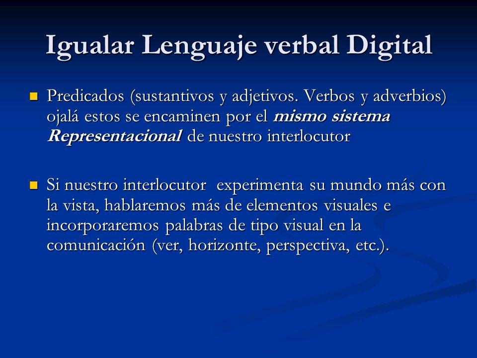 Igualar Lenguaje verbal Digital