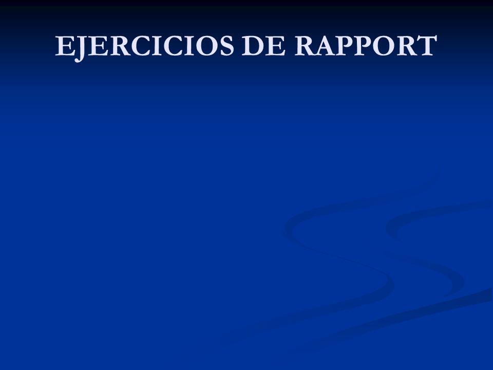 EJERCICIOS DE RAPPORT