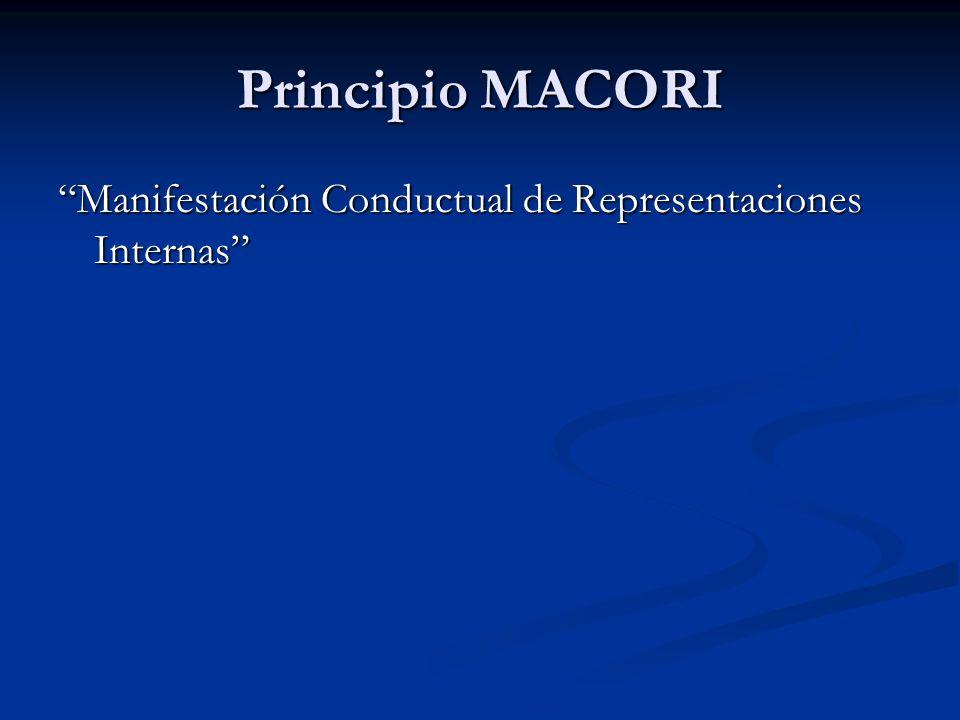 Principio MACORI Manifestación Conductual de Representaciones Internas