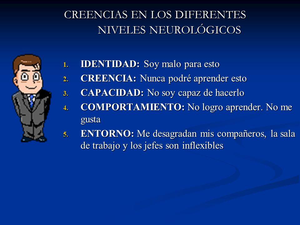 CREENCIAS EN LOS DIFERENTES NIVELES NEUROLÓGICOS