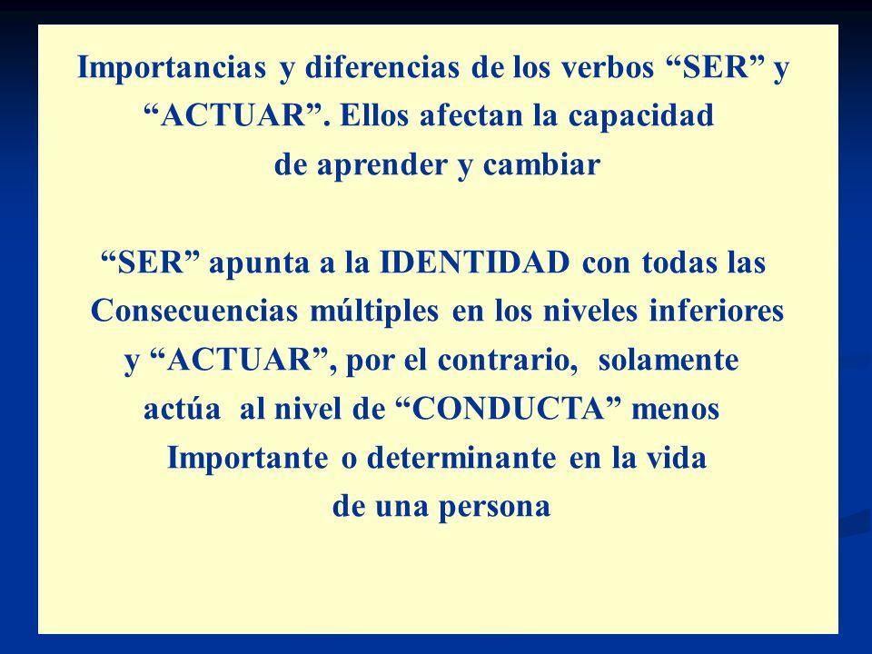 Importancias y diferencias de los verbos SER y
