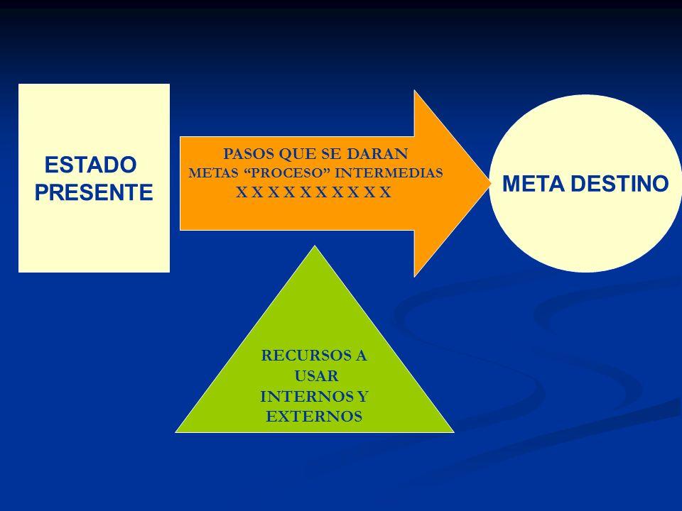METAS PROCESO INTERMEDIAS