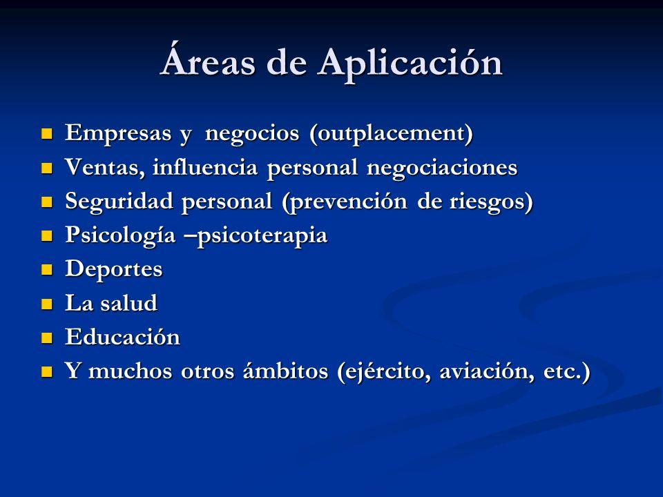 Áreas de Aplicación Empresas y negocios (outplacement)