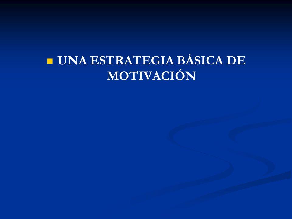 UNA ESTRATEGIA BÁSICA DE MOTIVACIÓN