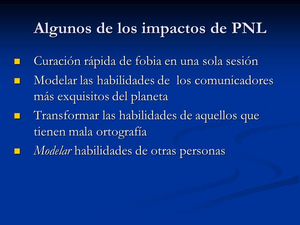Algunos de los impactos de PNL