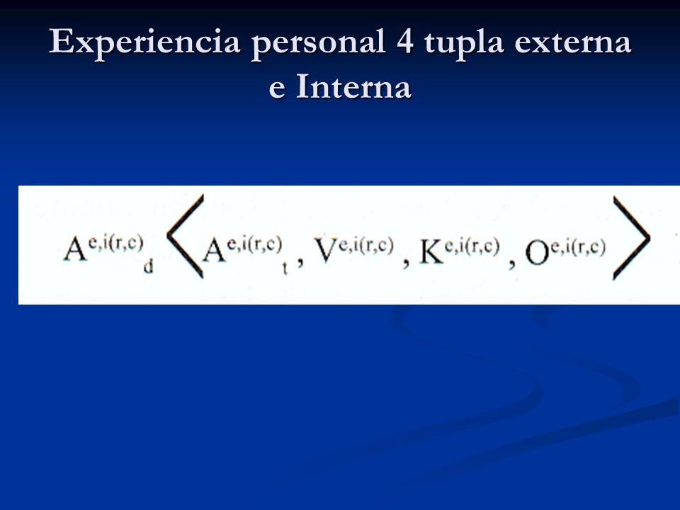 Experiencia personal 4 tupla externa e Interna