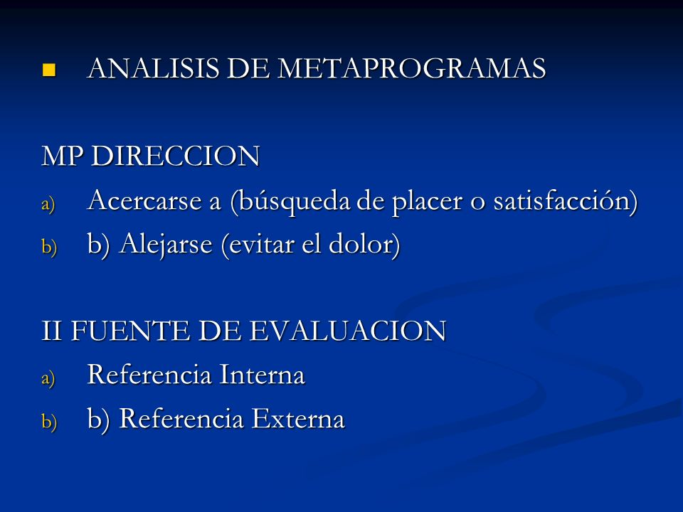 ANALISIS DE METAPROGRAMAS