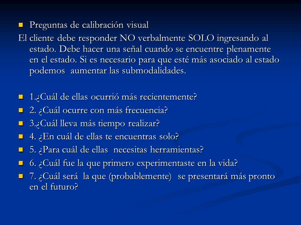 Preguntas de calibración visual