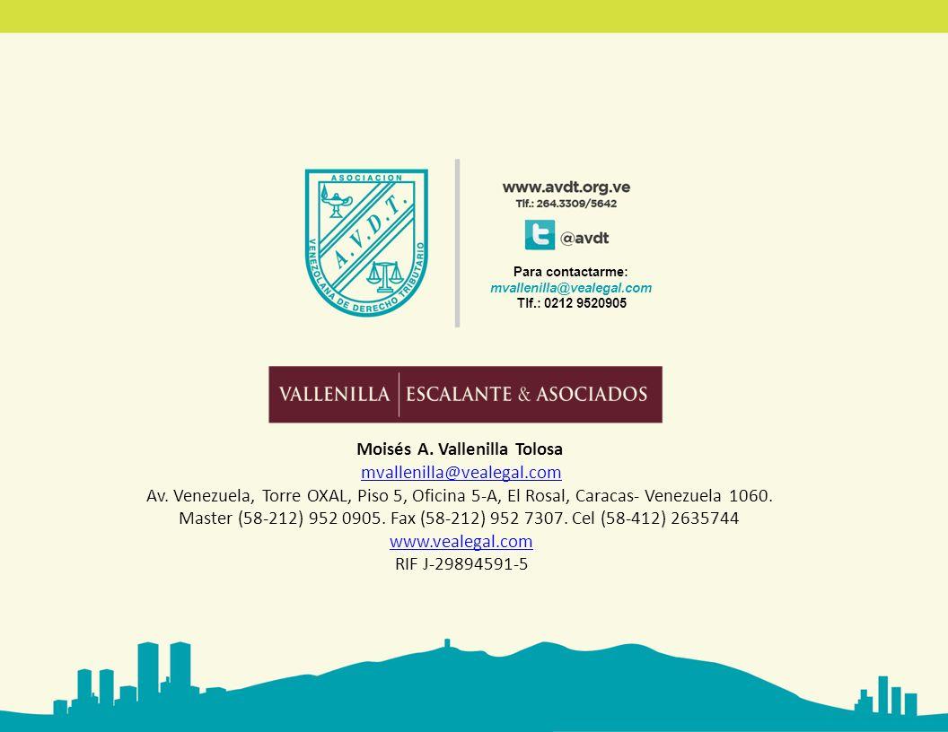 Moisés A. Vallenilla Tolosa mvallenilla@vealegal.com