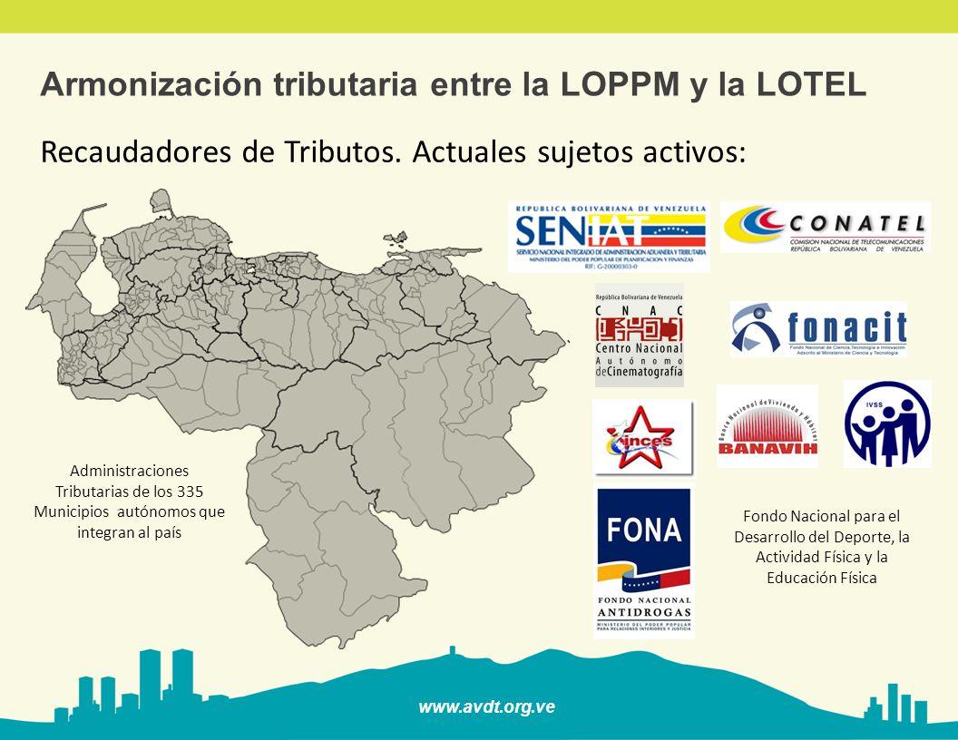 Armonización tributaria entre la LOPPM y la LOTEL