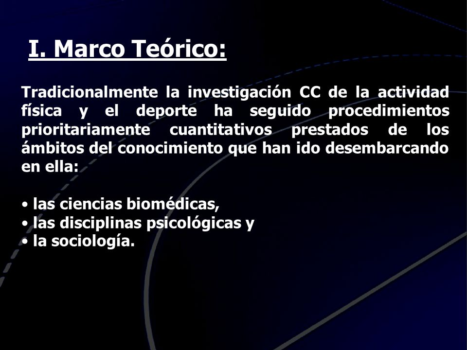 I. Marco Teórico: