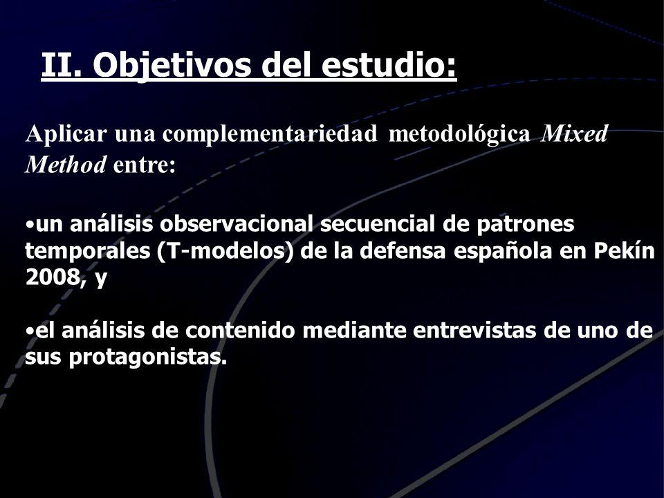 II. Objetivos del estudio: