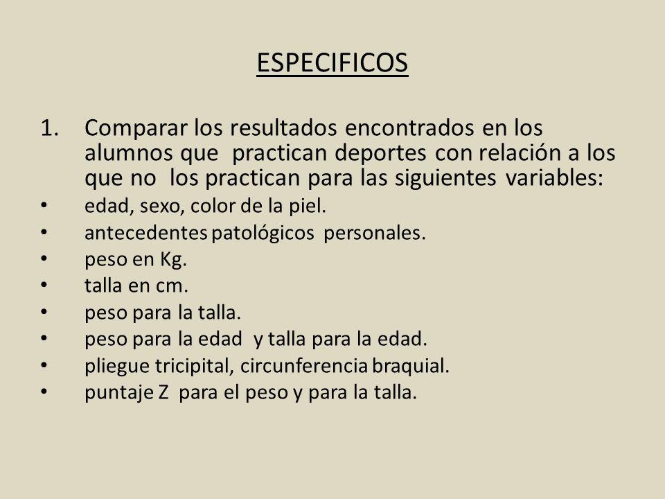 ESPECIFICOS