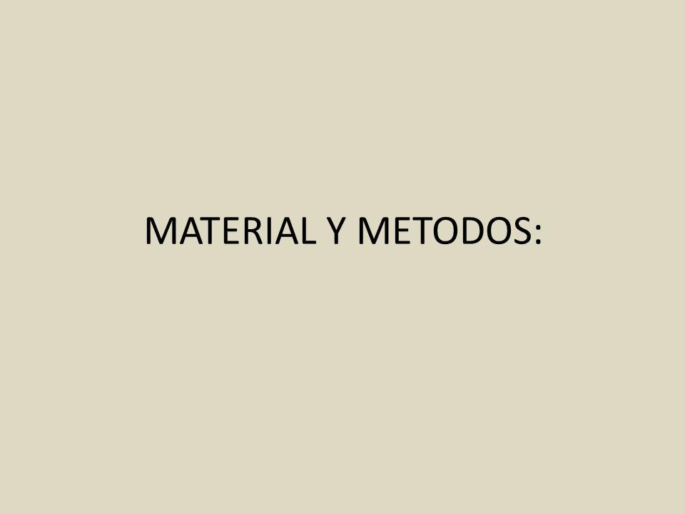 MATERIAL Y METODOS: