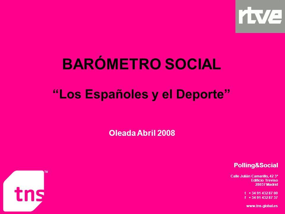 BARÓMETRO SOCIAL Los Españoles y el Deporte