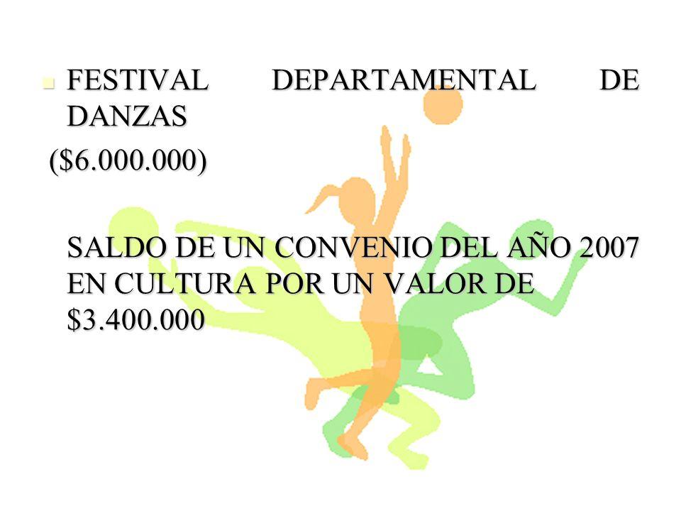 FESTIVAL DEPARTAMENTAL DE DANZAS