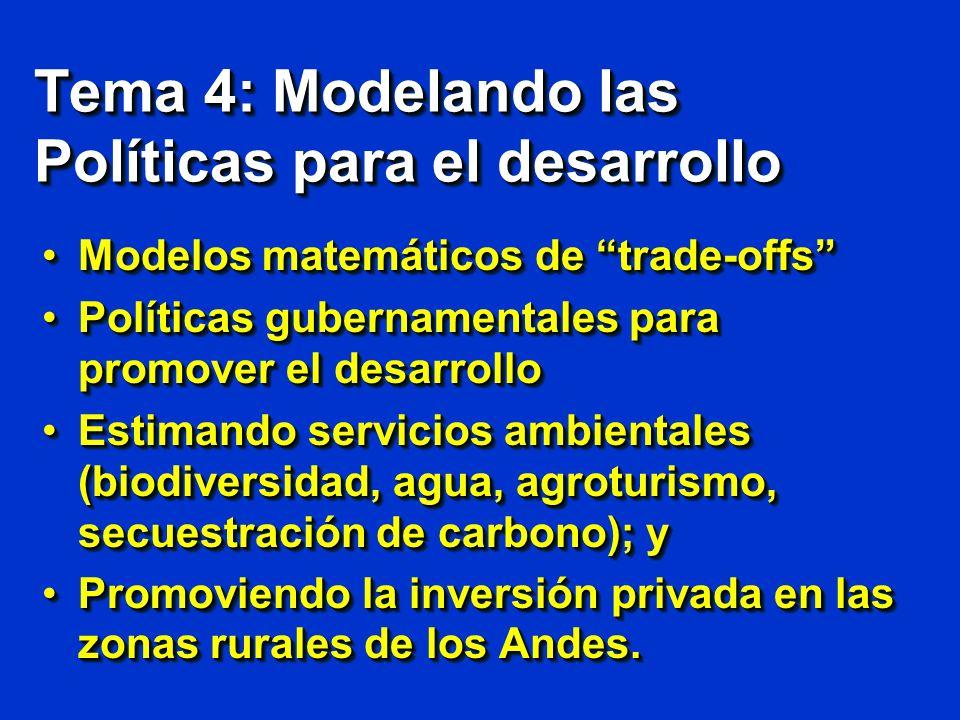 Tema 4: Modelando las Políticas para el desarrollo